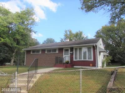 District Heights Single Family Home For Sale: 2400 Boones Lane