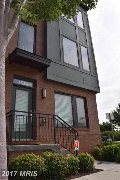 Hyattsville Townhouse For Sale: 4524 Kennedy Street