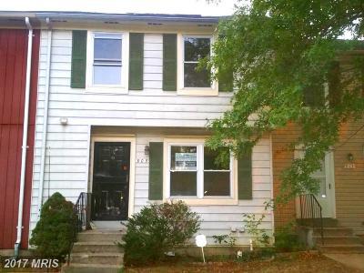 Bowie Townhouse For Sale: 905 Saint Michaels Drive
