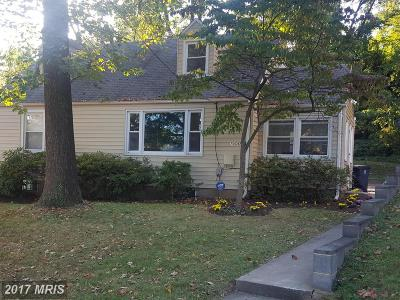 Hyattsville Single Family Home For Sale: 7006 Taylor Terrace