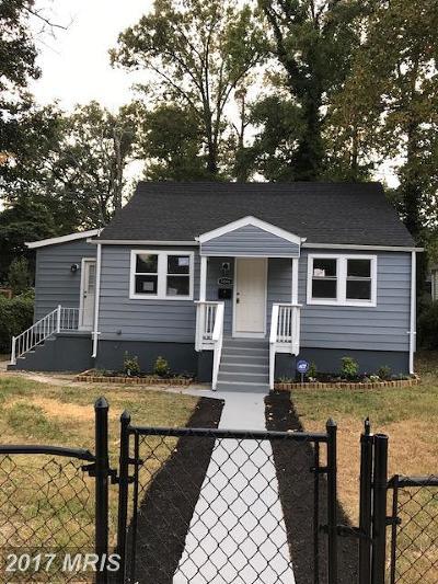 Hyattsville Single Family Home For Sale: 5006 Lanham Drive
