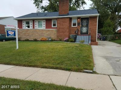 Hyattsville Single Family Home For Sale: 6408 Balfour Drive