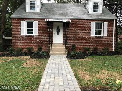 Hyattsville Single Family Home For Sale: 2201 Amherst Road