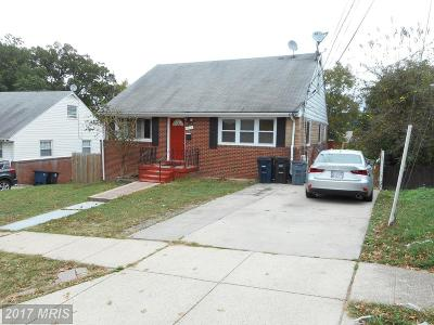 Oxon Hill Single Family Home For Sale: 4916 Glassmanor Drive