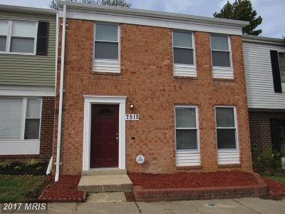 Landover Townhouse For Sale: 7512 Grouse Place
