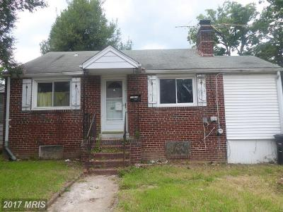 Hyattsville Single Family Home For Sale: 5016 54th Avenue