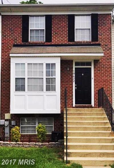 Bowie Townhouse For Sale: 10422 Vista Gardens Drive