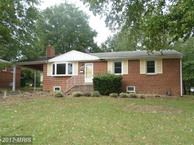 Suitland Single Family Home For Sale: 4401 Reamy Drive