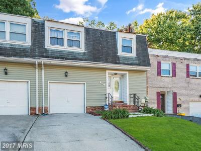 Capitol Heights Townhouse For Sale: 7407 Calder Drive