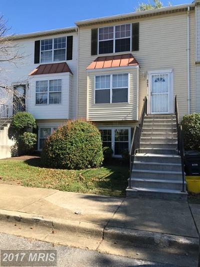 District Heights Townhouse For Sale: 6845 Milltown Court