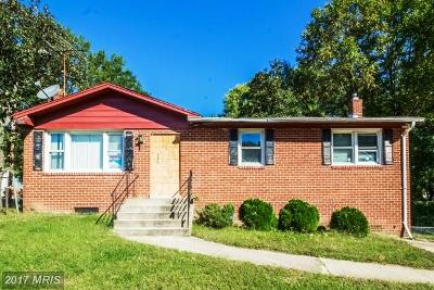 Suitland Single Family Home For Sale: 3826 Swann Road
