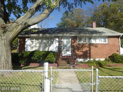 Hyattsville Single Family Home For Sale: 4717 66th Place