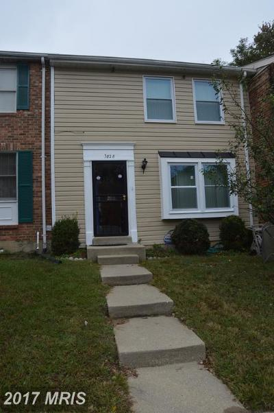 Beltsville Townhouse For Sale: 3828 Evans Trail Court