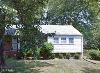 New Carrollton Single Family Home For Sale: 8126 Gavin Street