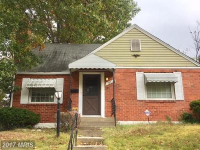 District Heights Single Family Home For Sale: 7022 Mason Street