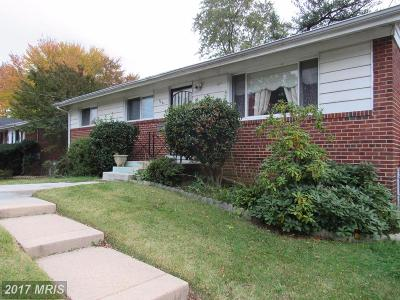 Hyattsville Single Family Home For Sale: 1921 Saratoga Drive