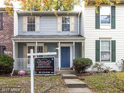 Capitol Heights Townhouse For Sale: 7317 Shady Glen Terrace