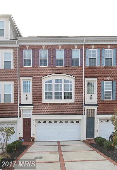 Upper Marlboro Townhouse For Sale: 522 Bolin Terrace