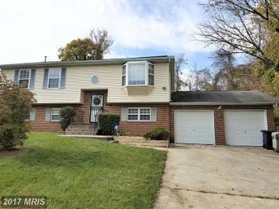 Suitland Single Family Home For Sale: 3905 Walnut Lane