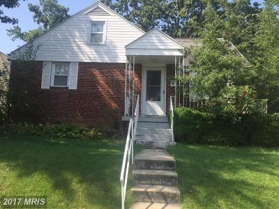 Hyattsville Single Family Home For Sale: 4704 68th Place
