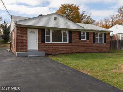 Suitland Single Family Home For Sale: 3309 Randall Road