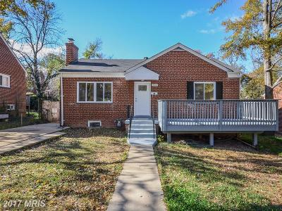 Hyattsville Single Family Home For Sale: 3502 56th Place