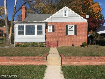 Hyattsville Single Family Home For Sale: 1100 Oakdale Drive