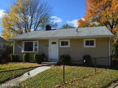 District Heights Rental For Rent: 2503 Overdale Place
