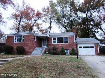 Temple Hills Single Family Home For Sale: 3612 28th Parkway