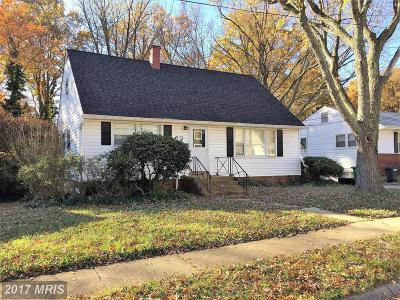 Laurel Single Family Home For Sale: 1110 Marton Street