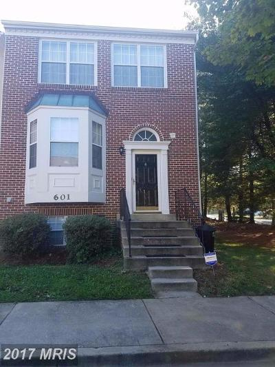 Bowie Townhouse For Sale: 601 Evening Star Place