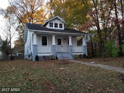 Hyattsville Single Family Home For Sale: 4217 Oglethorpe Street