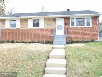 District Heights Single Family Home For Sale: 6501 Kenova Street