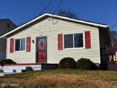 Capitol Heights Single Family Home For Sale: 821 Clovis Avenue