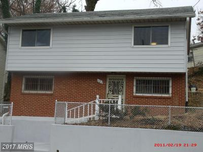Capitol Heights Single Family Home For Sale: 122 Capitol Heights Boulevard