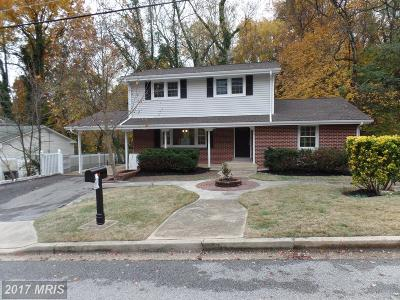 Fort Washington MD Single Family Home For Sale: $330,000