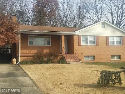 Fort Washington MD Single Family Home For Sale: $240,000