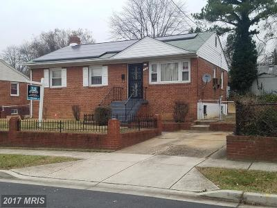 Capitol Heights MD Single Family Home For Sale: $225,000