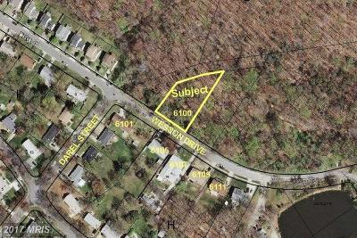Suitland Residential Lots & Land For Sale: 6100 Wesson Drive