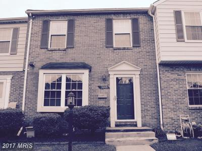 District Heights Townhouse For Sale: 1642 Tulip Avenue