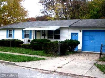 District Heights Single Family Home For Sale: 2400 Driver Place