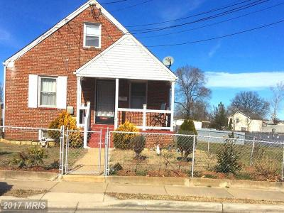 Hyattsville Single Family Home For Sale: 4612 Burlington Road