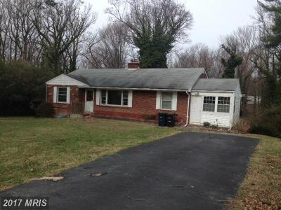 Temple Hills Single Family Home For Sale: 5110 Sharon Road