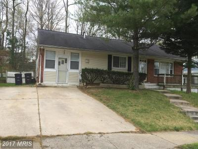 Oxon Hill Single Family Home For Sale: 1411 Birchwood Drive