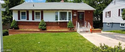 Lanham Single Family Home For Sale: 7210 Kidmore Lane