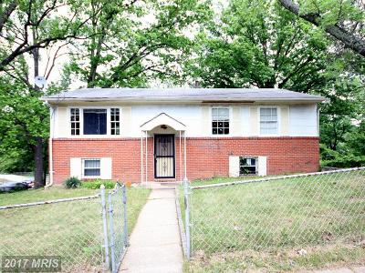 Suitland Single Family Home For Sale: 4700 Medora Drive