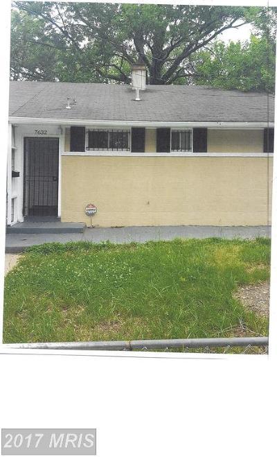 Hyattsville Rental For Rent: 7632 Muncy Rd