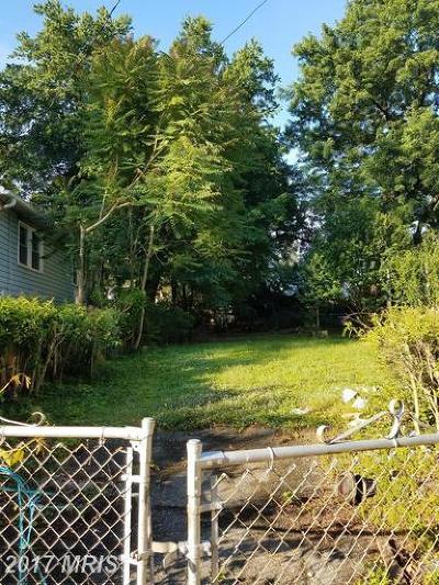 Beltsville Residential Lots & Land For Sale: 4823 Lexington Avenue