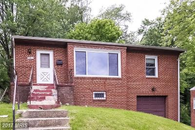 Hyattsville Single Family Home For Sale: 6707 Stanton Road
