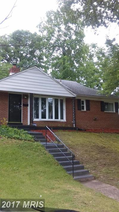 District Heights Single Family Home For Sale: 7106 Gateway Boulevard